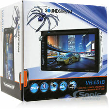 """NEW Soundstream Double Din VR-651B DVD/CD/MP3 Player 6.5"""" LCD Bluetooth"""