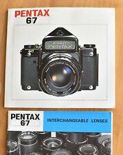 PENTAX 67 Camera and Interchangeable Lens MANUALS - Original VG