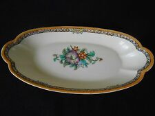 "VINTAGE Noritake Sandwich Platter, Floral Design, 12"" by 5.5"", Hand Painted"