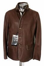 Waist Length Leather Hooded Coats & Jackets for Men ARMANI