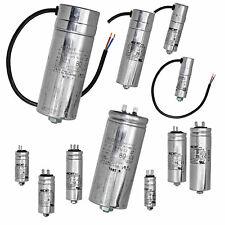 Motorkondensator 1-80 uF µF Betriebskondensator Kondensator, Stecker oder Kabel