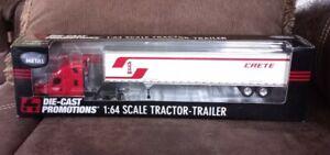 DCP CCC CRETE TRACTOR & BOX TRAILER 1:64 SCALE DIE-CAST PROMOTIONS NIB
