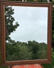 """Large Mirror In Vintage Carved Oak Frame 28.5"""" X 23.5"""""""