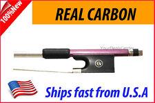 New Genuine Carbon Fiber Violin Bow 1/2  -- Purple
