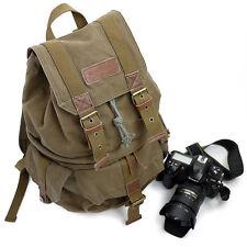 Men Women Waterproof Canvas DSLR Camera Bag Backpack Travel Bag Rucksack Daypack