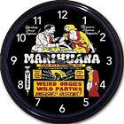 "Marijuana Weed Pot Grass Marihuana Anti Drug Propaganda Poster Wall Clock 10"""