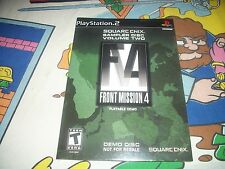 NEW Square Enix Sampler Volume 2 Front Mission 4 Playable Demo PS2 Playstation