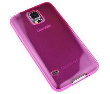 Schutzhülle f Samsung Galaxy S5 i9600 G900 Case Tasche Etui TPU Silikon pink