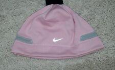 $18 Nike Girls Size 7-16 Pink & Gray Winter Hat Warm Beanie Hat Fleece Lining!
