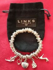Links of London Bracelet and 5 charms