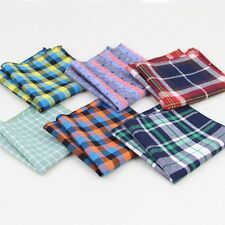 Lot 9 Pieces Assorted Cotton Mens Handkerchief Cartoon Pocket Square Bandana