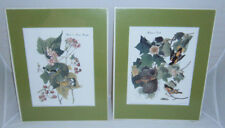 2 ART BIRD PRINTS NATURE BY J. AUDUBON ENGRAVED BY HAVELL WARBLER & ORIOLE NEST