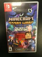 Minecraft Story Mode Complete Adventure Telltale Nintendo Switch Complete CIB