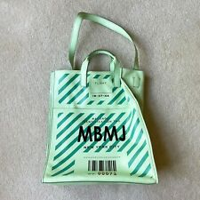 Marc by Marc Jacobs MBMJ Green Leather Tag Print Shopper tote