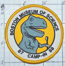 MASSACHUSETTS, BOSTON MUSEUM OF SCIENCE 1987 1988 CAMP-IN DINOSAUR PATCH