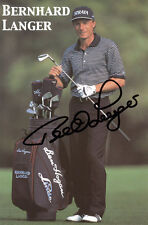 BERNHARD LANGER Golf Signed Original Autographed Photo COA #1