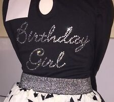 Birthday Girl Crystal Iron On Transfer 4 Dresses T Shirts Party Wear Costumes