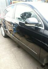 2008 VW PASSAT B6 BARE DRIVER SIDE FRONT DOOR OSF BLACK. COLOUR CODE LC9X.