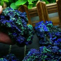 Natural Azurite Malachite Geode Crystal Mineral Specimen Reiki Stone Gemstone