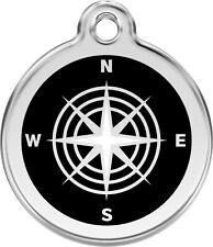 Red Dingo Compass Enamel/Solid Stainless Steel Engraved Id Dog