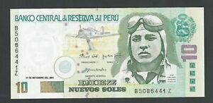 PERU 10 SOLES  2001   P-175  UNC