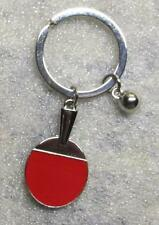 Ping Pong PADDLE with BALL Table Tennis Metal KEY CHAIN Ring Keychain NEW