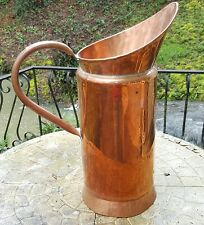 tall vintage or antique French copper jug, coal scuttle, stick or umbrella stand