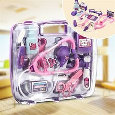 Kids Pretended Doctor Nurse Medical Case Toy Set Kit for Child Role Play Gift