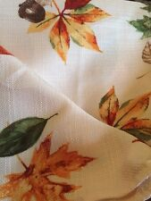FOOD NETWORK TABLECLOTH  60 X 100 In New Orange Green Brown Leaves NWop