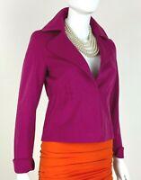 Akris New 2 4 US 38 40 IT XS S Pink Wool Angora Blazer Jacket Coat Runway Auth