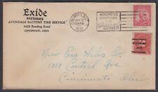 1931 Exide Batteries Advertising Cover postage due Cincinnati, OH precancel #689