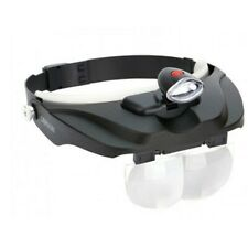 Carson PRO Magni Visor Deluxe LED Lighted Head-Band Magnifier Visor CP-60 - BNIB