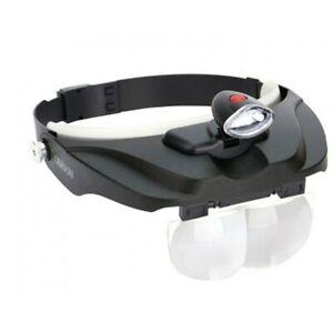 Carson PRO Magni Visor Deluxe LED Lighted Head-Band Magnifier Visor CP-60 - BNIB