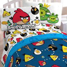 ANGRY BIRDS TWIN COMFORTER + TOTE BAG SET Children's Kids NEW