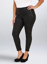 Torrid Black Distressed Faux Leather Fleece Jegging Size 3 AKA 3 XL 22 24 #14447