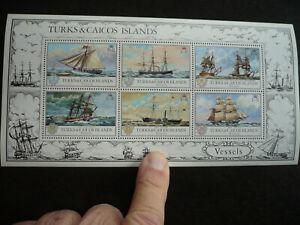 Stamps - Turks & Caicos Islands - Scott# 285a - Souvenir Sheet of 6 Stamps