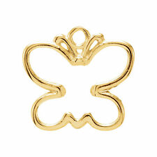 14kt Yellow Gold Butterfly Charm 6mm x 3mm
