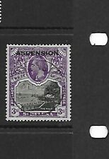 Ascension 1922 3/- Black & Violet FU