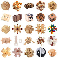 Holz Kongming Schloss Rätsel Puzzle Kinder Erwachsene Bildungs Spielzeug
