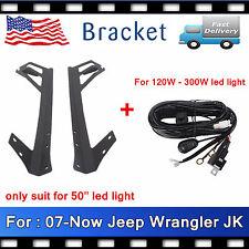 07-Now Mounting Bracket Jeep JK Wrangler For 50'' 288W LED Light Bar+Free Wiring