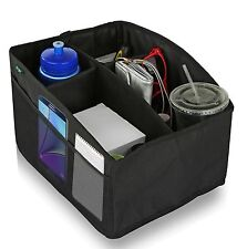 Car Console Organizer By Lebogner - 4 Inside, 6 Outside Pockets Easy Fold Design