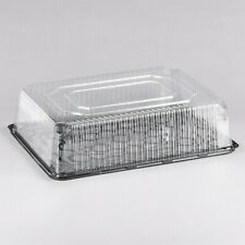 1/2 Size 2-3 Layer Sheet Cake Display Container with Clear Dome Lid - 33/Case