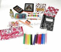 "12 Back To School Supplies 18"" Doll Clothes Accessories For American Girl Dolls"