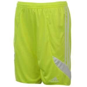 adidas Kids 3 Stripe Nova Shorts Junior Boys Climalite Elastic Football Bottoms