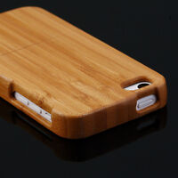 Genuine Real Natural Wood Wooden Bamboo Hard Back Case Cover For Apple iPhone 5C