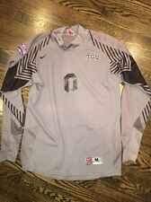 Game Worn TCU Horned Frogs Soccer Jersey Texas Christian Goalie Nike #0 Size M