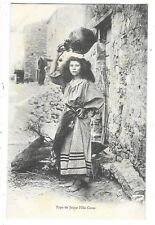 CORSE type de jeune fille porteuse d'eau