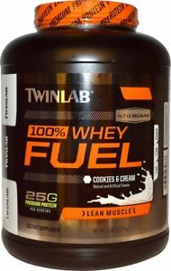 Twinlab 100% WHEY FUEL Protein 5 lbs, 66 Servings COOKIES & CREAM SALE