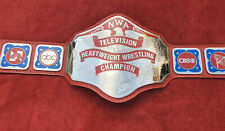 NWA TELEVISION HEAVYWEIGHT BELT IN 4MM BRASS PLEATS FREE SHIPPING