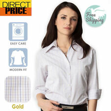 Checked 3/4 Sleeve Blouses for Women